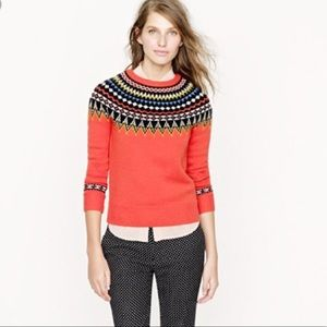 J. Crew Collection Fair Isle Ski Sweater L